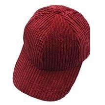PANDA SUPERSTORE Corduroy Fashion Baseball Cap Adjustable Leisure Hat Wi... - $24.23