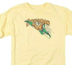 Aquaman T-shirt SuperFriends retro 80s cartoon DC yellow graphic tee DCO862 image 1