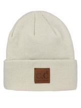 New! C.C Unisex Plain Cuff Skull Cap Winter Knit CC Beanie Hat with LOGO! - $9.99
