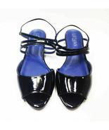 Lothian Tilda Slingback Heel Sandals, Black/Navy, US Size 6.5 - $25.73