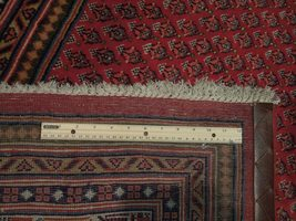 Vivid Boteh Flamed All-Over Persian Hand-Knotted 7x10 Red Mir Wool Area Rug image 8