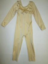 NEW Girls Unitard Size 4 6 10 12 SC IC MC LC Nude Gold Costume Leotard D... - $17.95