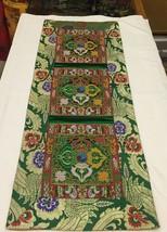 Tibetan Green Double Dorje silk brocade table runner/ shrine cover /alta... - $25.00
