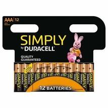12 x Duracell Simply AAA Alkaline Batteries LR03 MN2400 Alkaline 1.5V Long Last - $13.80