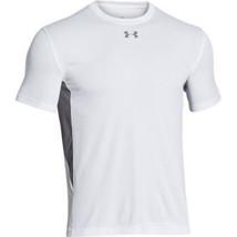Boys Under Armour 1259605 HeatGear Short Sleeve Athletic T-Shirt Tee Whi... - $21.37