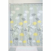 Mustard Yellow Grey Daisy 180 x 180 cm Shower Curtain Waterproof Shower Screen  - $19.94