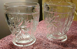 Pair Of Small Drinking Glasses - Pressed Glass  -  1960's - FREE POSTAGE** - $12.21