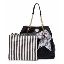 Betsey Johnson Women's Black Quilted Trap Tote Bag - $54.31
