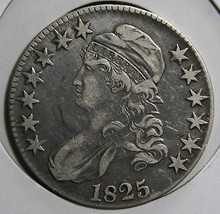 1825 Capped Bust Half Dollar 50¢ Coin Lot# EA 321