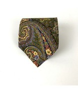 Men's BOSS Hugo Boss Paisley Floral Print 100% Silk Neck Tie Made In Italy - $17.81