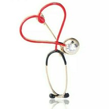 Gold Red Black Crystal Stethoscope Brooch Statement Pendant Pin Fashion ... - $16.83