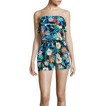 Decree Strapless Ruffle-Front Romper Juniors Size S New Msrp $42.00  - $16.99