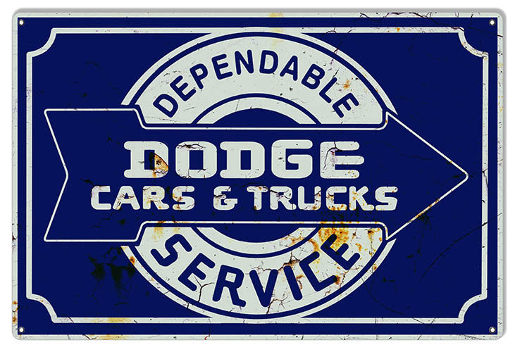Primary image for Dodge Cars & Trucks Reproduction Garage Shop Metal Sign 12x18