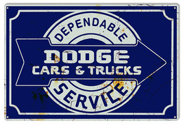 Dodge Cars & Trucks Reproduction Garage Shop Metal Sign 12x18 - $25.74