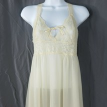 Vintage 70s Sears Nightgown Sheer Double Nylon Chiffon Negligee Lingerie... - $59.35