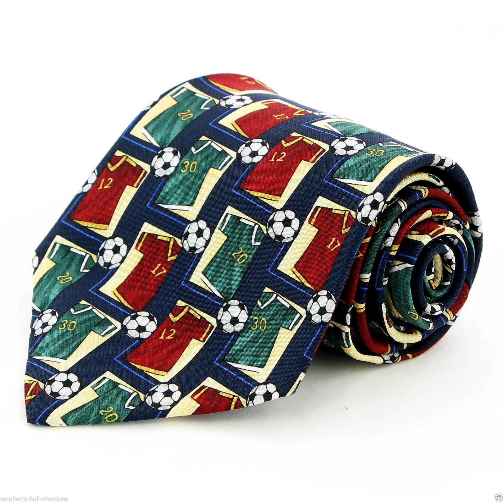 Soccer Game Jersey Men's Necktie Ball Player World Cup FIFA Football Neck Tie