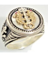 14 Karat Gold Venetian Seahorse Mens Coin ring - $148.50
