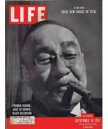 ORIGINAL Vintage September 10 1951 Life Magazine Premier Yoshida Japan - $23.19