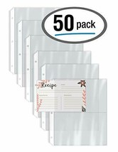 Recipe Card Page Protectors, 50 Count, 4 x 6 inch 8.5 x 7 Inch, Clear - $13.54