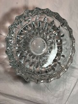 Vintage Libbey Canada Crystal Glass Cut Ashtray Tobacciana Collectible Beautiful - $19.31