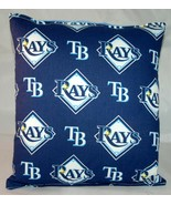 Rays Pillow Tampa Bay Rays Pillow MLB Handmade in USA Pillow Baseball - $9.97