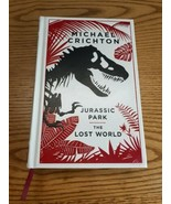 Jurassic Park / The Lost World by Michael Crichton Hardcover Leather Bound - $44.50