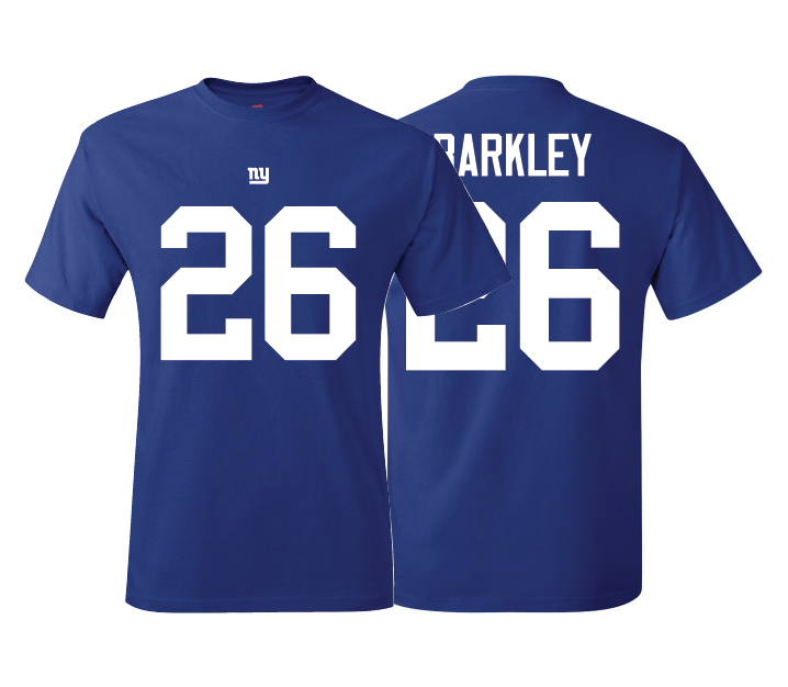 best website 720fc 0b4ec Giants Saquon Barkley Style T-Shirt/Jersey and similar items