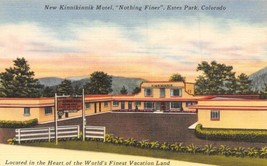 Kinnikinnik Motel Estes Park Colorado linen postcard - $6.44