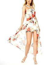 Material Girl Juniors' Printed Romper w Sheer Overlay Maxi Skirt Size XS... - $14.29