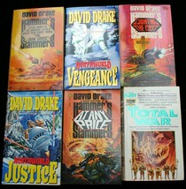 Lot 6 David Drake military sci-fi NORTHWIND~HAMMER'S SLAMMERS~TOTAL WAR ... - $20.25