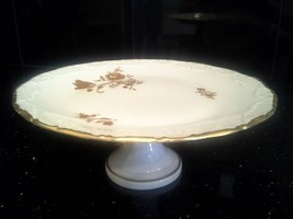 LIMOGES FRANCE HAND PAINTED ROSE AND TULIP CAKE... - $56.10