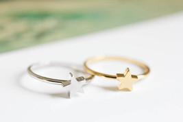 Jisensp Fashion Cute Star Ring Simple Mid Knuckle Rings Women Engagement... - $7.99