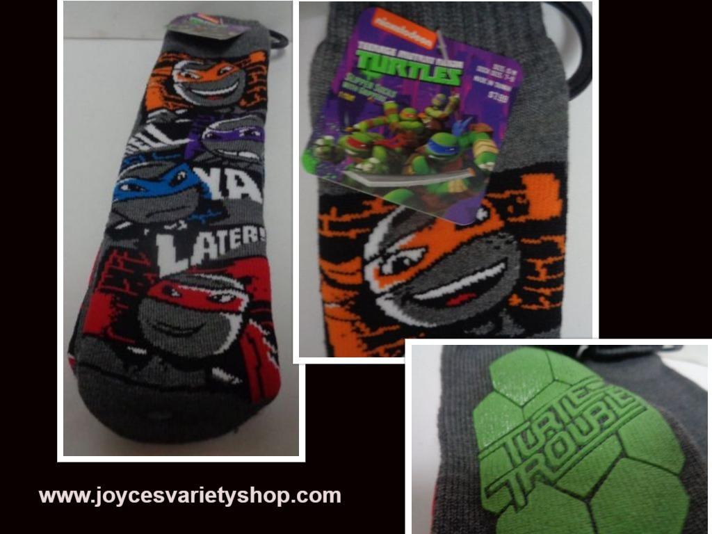 Ninja turtle socks web collage