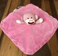Magic Years Pink Sock Monkey Lovey Security Blanket 2011 Rashti Baby Lovie B1 - $24.74