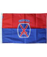 10th Mountain Division - 3'X5' Nylon Flag - $62.10