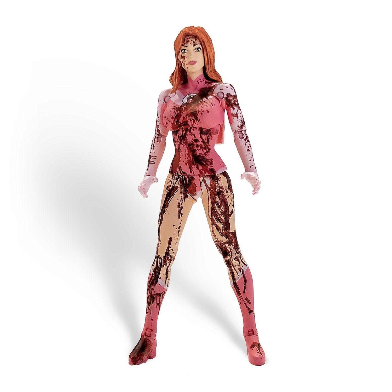 Invincible Atom Eve Mcfarlane Figure Action Toy Bloody Splatter ECCC 2018