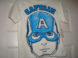MARVEL COMICS CAPT. AMERICA BOY'S COTTON SHORT SLEEVE WHITE T-SHIRT NEW  - $6.25