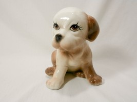 "Vintage Ceramic Puppy Dog Herb, Grass, Flower Small Planter 5.75"" tall - $23.40 CAD"