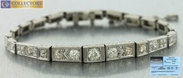 Handcarved Ladies Antique Art Deco Platinum 3.00ct Old European Diamond ... - $4,529.54