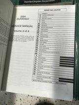 2004 DODGE DURANGO Service Repair Shop Manual Set W Data Book + Bulletin Page image 8