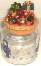 CHRISTMAS GLASS CANDY JAR - $5.00