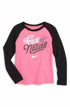NIKE Girls' Force of Nature Long Sleeve T-Shirt Size 6X, Pink - SRP $24.99 - $19.80