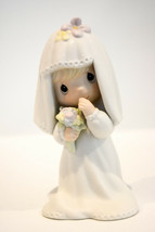 Precious Moments  Bride  E-2846  Holding Her Bouquet - $15.14