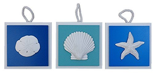 3 Colored Plaques with Resin Shells