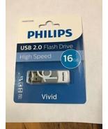 PHILIPS USB 2.0 Flash Drive High Speed Vivid 16gb FM16FDO6B - $14.84
