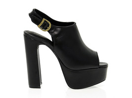Heeled sandal JEFFREY CAMPBELL JD0014 in black leather - Women's Shoes - £60.73 GBP