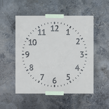 Clock Stencil - Reusable Stencils of a Clock Available in Small & Large ... - $5.99+