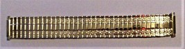 "Vintage NOS Gold-tone Top Stainless Steel Watch Band Unbranded 6"" - $19.95"