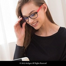 Archgon Fashion Computer Glasses Anti Blue Light UV Protection A+ Cryst... - $52.96