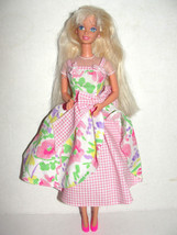 1996 Spring Petals barbie doll floral flower dress springtime - $4.99